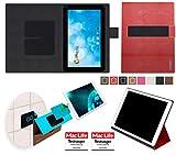 reboon Hülle für Blaupunkt Endeavour 1000 WS Tasche Cover Case Bumper | in Rot Leder | Testsieger