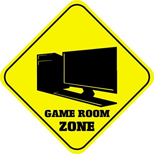wennuna Spiel Raum Zone Metall Aluminium Neuheit Schild 30,5x 30,5cm (Spiel-raum-zeichen)