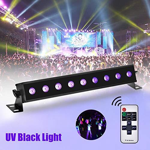 Bühnenscheinwerfer 9 LEDs Projektor UV Bar Licht Violett Spiele Licht Soiree Lampe Schwarz LED Par Wall Washer Schwarzlicht Für DJ Disco Party Bar Party