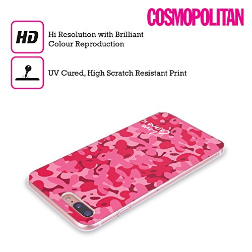 Official Cosmopolitan Purple Pink Camo Soft Gel Case for Apple iPhone X Rosy Pink