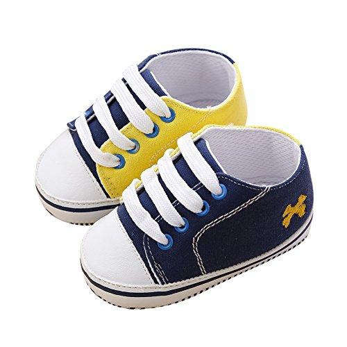 Skid 18 Krabbelschuhe Hankiki Anti f眉r Turnschuh weicher D Monate Schuhe Trainer Babys Kinder und Leinwand Baby 0 qwqf6FI