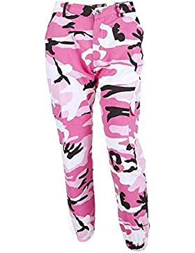 Laisla fashion Pantalon Militar Mujer Largas Elegantes Otoño Outdoor Pantalon Deporte Casuales Pantalon Cargo...
