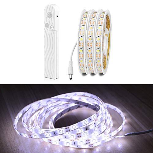Motion Activated Closet Light, LED-Bewegungssensor, wasserdichter Lichtgürtel für Treppenhaus, Flur, Schrank, Bad, Küche (Weiß, 2 Meters)
