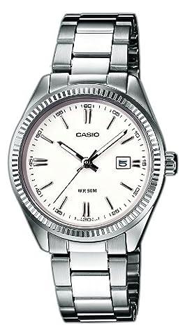 Casio Collection – Damen-Armbanduhr mit Analog-Display und Edelstahlarmband – LTP-1302PD-7A1VEF