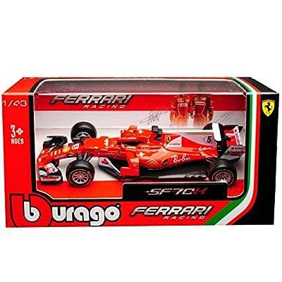 Ferrari SF70H Sebastian Vettel Nr 5 Formel 1 2017 1/43 Bburago Modell Auto mit oder ohne individiuellem Wunschkennzeichen von Bburago Burago alles-meine.de GmbH