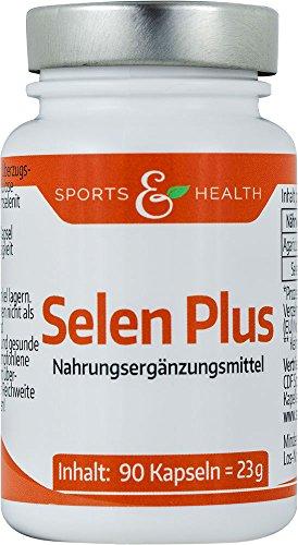 Selen Plus Hochdosiert - 200 µg - Vegane Kapseln - Mit Natürlichem Selen Aus Pilzen - Ohne Füllstoffe Wie Cellulose etc