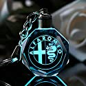 Fitracker 2018 Auto-Logo, Schlüsselanhänger, Kristall, LED, wechselnd, mit Geschenk-Box