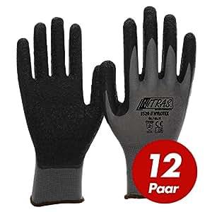 NITRAS Nylotex EN 388 12 paires de gants de travail Cat 2 Taille 9