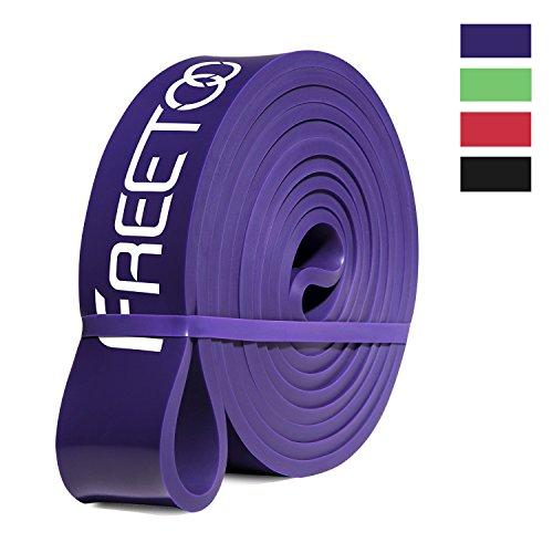 [Resistance Band] FREETOO Fitnessbänder professionelle Latex Widerstand Bänder Pull-Up Bänder Klimmzughilfe für Bodybulding/Yoga/ Krafttraining/CrossFit in 4 Stärken, Violett