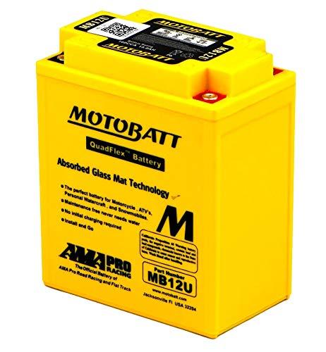 MB12U MOTOBATT Quadflex AGM Bike Batteria 12V 15Ah