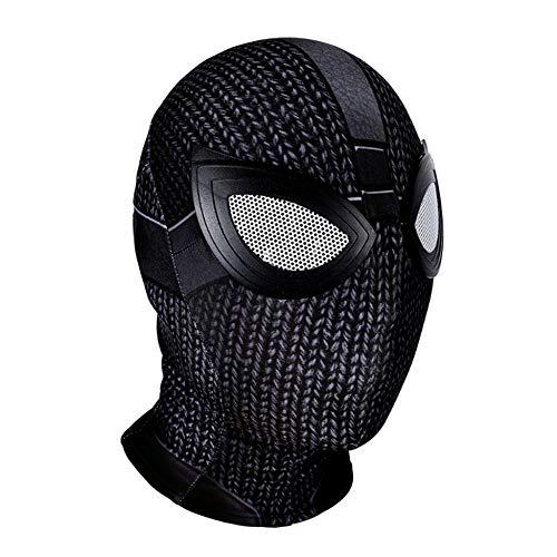 Real Kostüm Spiderman - ASJUNQ Spiderman Maske Venom Erwachsener Helm Halloween Mottoparty Lycra Cosplay Karneva Herren Held Vollen Kopf Deluxe Replik