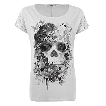mim t shirt t te de mort femme l rose cl v tements et accessoires. Black Bedroom Furniture Sets. Home Design Ideas