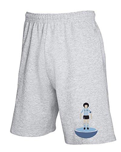Cotton Island - Pantalone Tuta Corto WC0576 Subbuteo Maradona Grigio