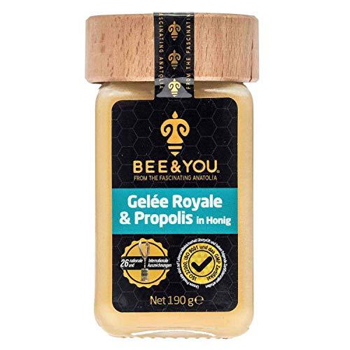 Bee&You Gelée Royale & Propolis in Honig (Roher Honig, Fairer Handel, Natürliche & kontrollierte Zutaten)
