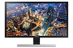 "Samsung U28E570D Monitor 4K Ultra HD, 28"", UHD, 3840 x 2160, 60 Hz, 1 ms, 2 HDMI, Cavo, Display Port Incluso, Nero"