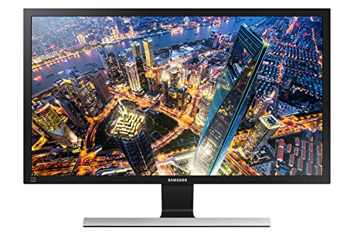 "Foto Samsung U28E570D Monitor 4K Ultra HD, 28"", Basic, UHD, 3840 x 2160, 60 Hz, 1 ms, 2 HDMI, Cavo, Display Port Incluso, Nero"