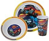Blaze Racing Tumbler, ciotola e piatto Set, Blu, set di 3