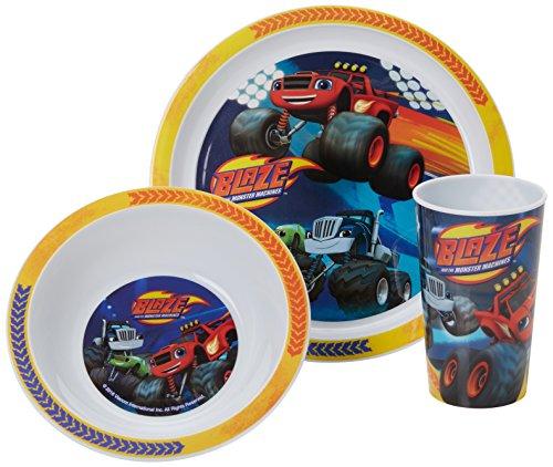 Blaze Racing Becher, Schale und Teller-Set, Blau, Set von 3 -