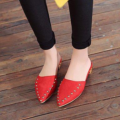 CH&TOU Da donna-Sandali-Casual Formale-Altro-Piatto-Finta pelle-Nero Giallo Verde Rosso Grigio Yellow