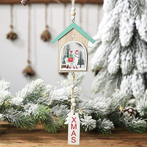 Hunde Bart Kostüm - MA87 Weihnachten Hölzerne Verzierungen Mini süße Weihnachtsdekoration Weihnachten Schmiedeeisen Home Decor (Blau)