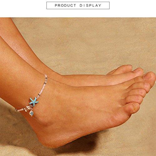 TAOtTAO Beliebte Harz Lady Fashion Beach Abschnitt Perlen Conch Seestern Form Fußkettchen Fuß