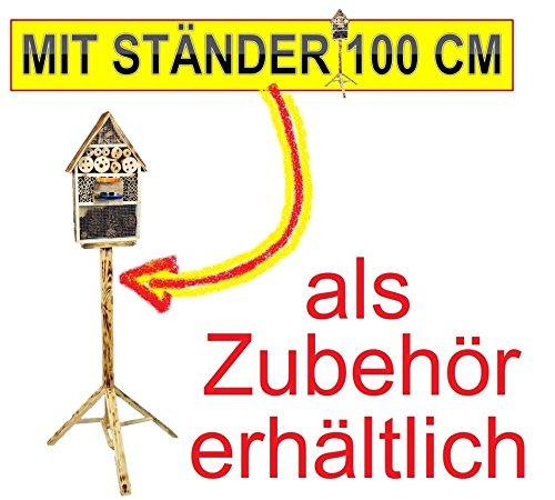 Große Nistkästen XXL Insekten Insektenhotel LOTUS + 2 x Sichtglas + Marienkäferhaus + Schmetterlingshaus - 6