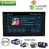 Die besten EinCar Doppel-din Autoradios - Wireless-Backup-Kamera + Android 8.1 Auto-Stereo 7-Zoll-Doppel 2Din GPS-Navigation Bewertungen