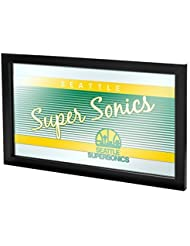 NBA Seattle SuperSonics Logo Mirror, One Size, Black by Trademark Gameroom