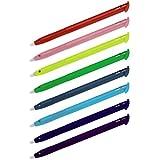 Hama Touchscreen Eingabestifte Stylus Pen für Nintendo New 3DS XL, 8-er Set, regenbogenfarben