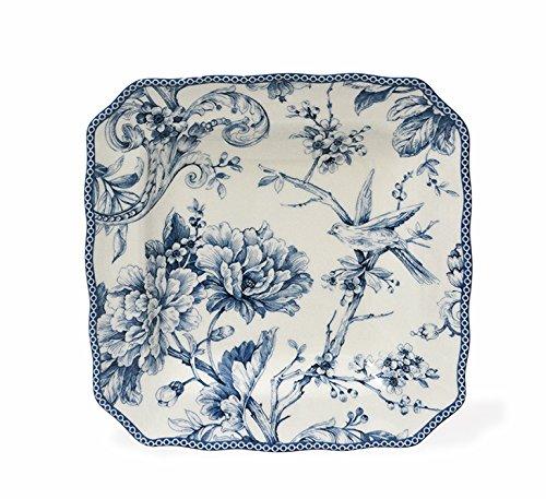 Adelaide 222 Fifth Fine China Kollektion Blue & White Square Salad Plates blau 222 Fifth China