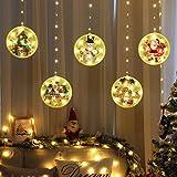 Decoraciones navideñas Cadena de luces LED USB Luces de hadas impermeables 1.5M * 0.65M Luces LED para colgar en la ventana p
