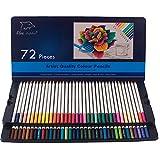 Crayons colorés 72-Pack avec étui en étain, Great Art Fournitures scolaires pour enfants et adultes Livres coloriés, crayons couleur souple