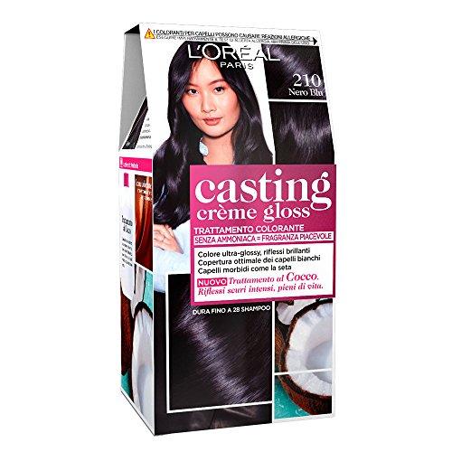 L'Oréal Paris Colorazione Capelli Casting Crème Gloss, Tinta Colore Trattamento senza Ammoniaca per una Fragranza Piacevole, 210 Nero Blu