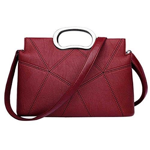 Damenmode Umhängetasche Splicing Handtasche Red