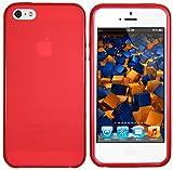 mumbi TPU Silikon Schutzhülle iPhone SE 5 5S Hülle transparent rot