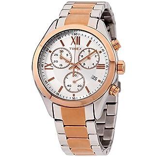 Timex Miami Chronograph – Reloj (Reloj de Pulsera, Unisex, Acero Inoxidable, Acero Pulido, Oro Rosado, Acero Inoxidable, Oro Rosado, Acero Inoxidable)
