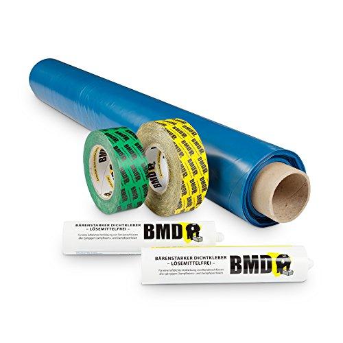 BMD 50m² Dampfbremssystempaket BMD Dampfsperrfolie, Dampfbremsfolie, Dampfbremse, Dampfsperre, Klebeband, Folienkleber EnEV CE Siegel