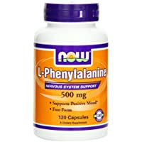 Now Foods Phenylalanine, 120 Caps, 500