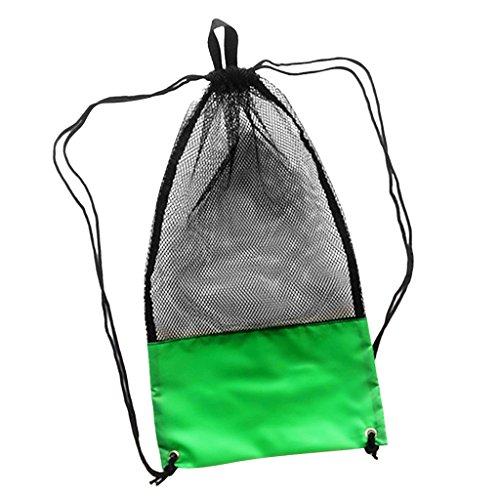Sharplace Netzbeutel / Mesh Bag für Wassersport Ausrüstung Tauchtasche / Schnorcheltasche / Sport Netztasche - Grün