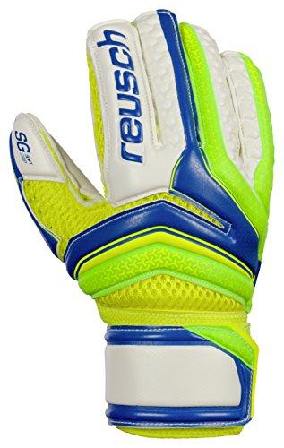 Reusch Fußball serathor SG Finger Support Junior Torwart Handschuhe, Reusch Serathor Sg Finger Support Junior Goalkeeper Glove - Size 4, grün / blau