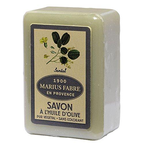 Marius Fabre Santal Seife 150 g Olivenöl-Seife mit Sandelholz Duftnote (Antimikrobielle Seife)