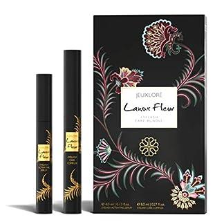 JEUXLORÉ – Set para el cuidado de pestañas Lanox Fleur – con 4 ml de suero para el crecimiento de las pestañas y 8 ml de barra de cuidado con aceite de ricino y vitamina E – hecho in Austria
