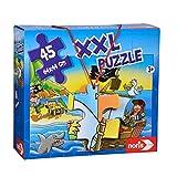 Noris 606034960 XXL Giant puzzel Piraten in het zicht met 45 delen (totale grootte: 64 x 44 cm) - voor kinderen vanaf 3 jaar
