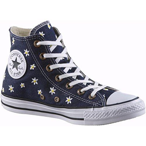 Converse Damen Ctas Hi Sneakers, Blau (Navy/Fresh Yellow/White), 38 EU (Converse Frauen Blumen)