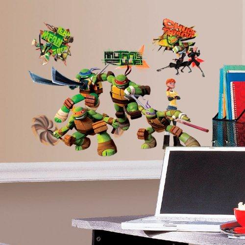RoomMates 30 Stickers Club Tortues Ninja Nickelodeon