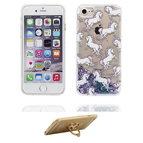 """iPhone 6s Hülle, Skin harte freie Handyhülle iPhone 6 / 6S, Glitter Bling Transparent Hard Clear funkelt Shinny fließend, iPhone 6 Case 4.7"""" Schock-bestän und Ring Ständer - Umbrella Mädchen # 7"""