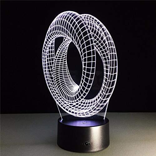 Lixiaoyuzz 3D Nachtlampe Heißer Verkauf Magische Optische Täuschung Stimmung Lampe Usb Tisch Dekorative Lampe Roller Spirale Birne Illusion, Touch & Remote