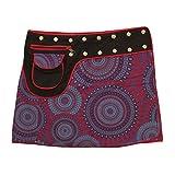 Leucht-Welten Damen Wickelrock Baumwolle Rock mit Tasche sk1 Design 4 Einheitsgröße Verstellbar