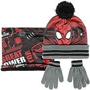 ARTESANIA CERDA Conjunto 3 Piezas Spiderman Set de Bufanda, Rojo (Rojo 02), One Size (Tamaño del fabricante:On