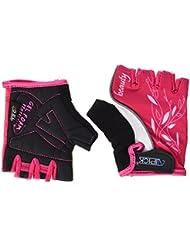 Atipick Lady - Guantes unisex, color rosa / blanco